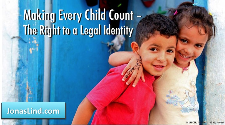 Making Every Child Count – The Right to an Identity
